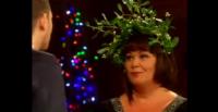 Dawn French Snogs Michael Bublé at Christmas Live