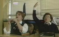 French and Saunders Portraying Schoolgirls